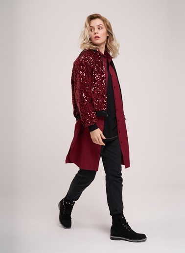 Mizalle Youth Ceket Bordo